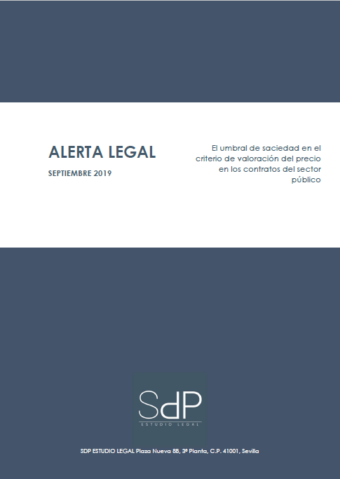 ALERTA LEGAL - EL UMBRAL DE SACIEDAD EN EL CRITERIO DE VALORACIÓN DEL PRECIO EN LOS CONTRATOS DEL SECTOR PÚBLICO